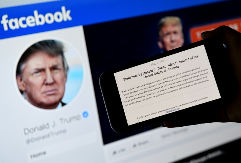 Facebook oversight board affirms Trump ban -- for now