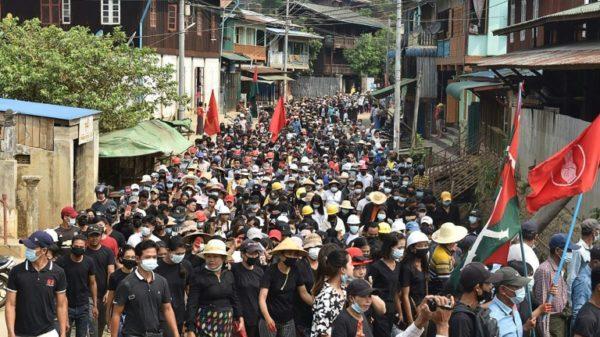 Thousands rally against Myanmar junta, calling for 'spring revolution'