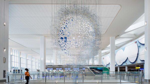 Sarah Sze, art, airport