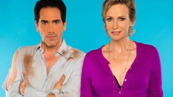 Paul Witten and Jane Lynch in 'Dropping the Soap'