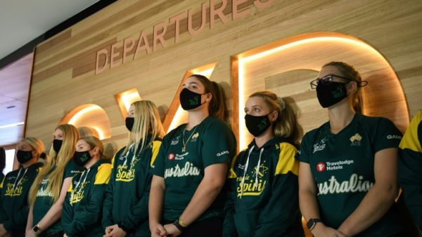 Aussie softball team first to arrive in Japan for Olympics