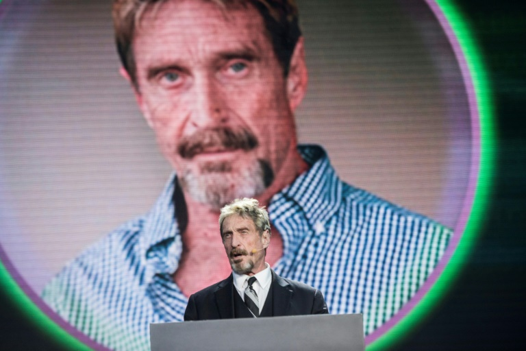 McAfee founder found dead by suicide in Spanish jail: prison official