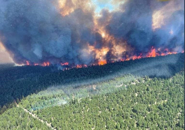 Two out of control wildfires spark evacuation orders in British Columbia