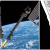International Space Station's Canadarm2 hit by a piece of space junk