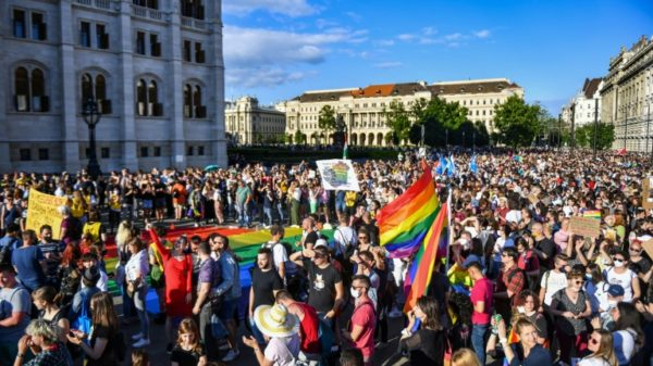 Protests in Hungary over ban on 'promoting' homosexuality