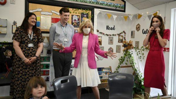 Jill Biden and Kate meet Greta's literary avatar at G7