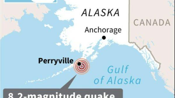 8.2 magnitude earthquake off Alaskan peninsula, small tsunami