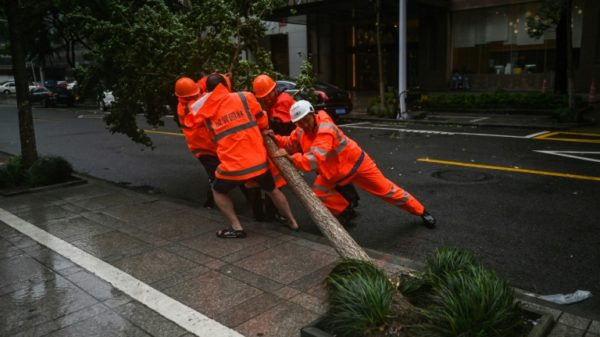 East China battens down as Typhoon In-Fa approaches
