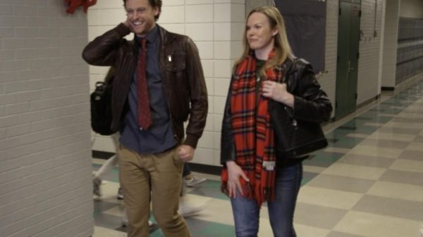 Michael Patrick Lane and Ashley Atwood in 'Rekindling Christmas'
