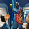 LeBron James and the Looney Tunes in a scene from 'Space Jam: A New Legacy'