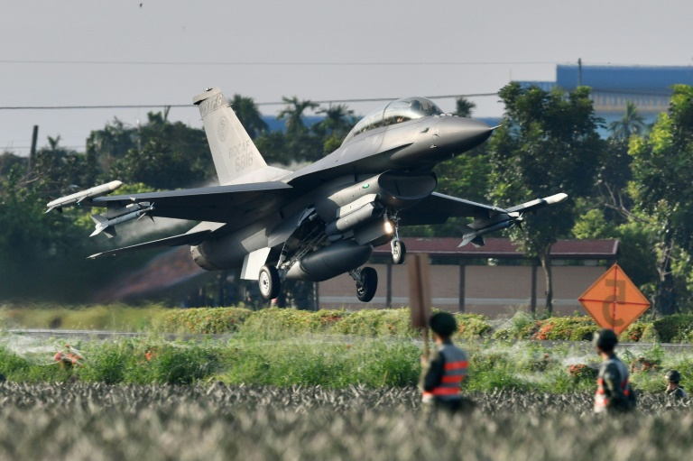 Taiwan jets land on highway for Chinese invasion wargame