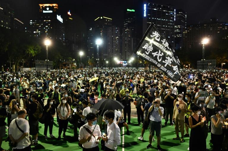 Nine Hong Kong activists given jail terms for joining Tiananmen vigil