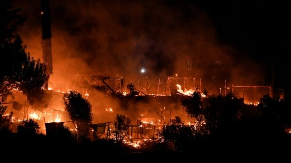 Major fire at migrant camp on Greek island of Samos
