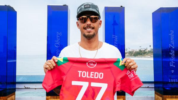 Brazilian professional surfer Filipe Toledo