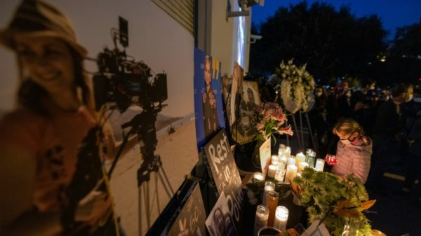 Hollywood gathers for Baldwin shooting victim vigil