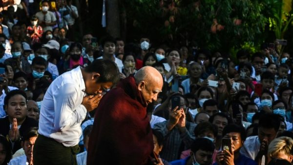 Monk's reappearance brings solace in coup-hit Myanmar