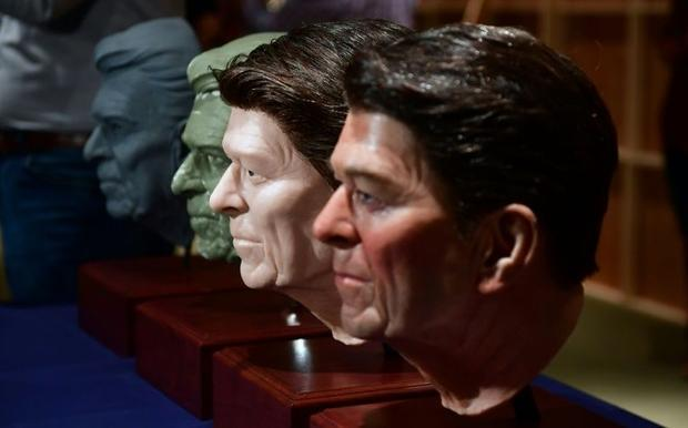 Silicone models were used to fashion Reagan's face