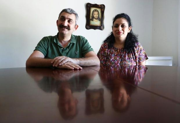 Ammar al-Kass and his wife Rana Said said they tried to stay  but finally decided to leave Iraq and ...