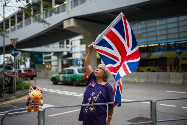 Wong was regularly seen waving the Union Flag at protests