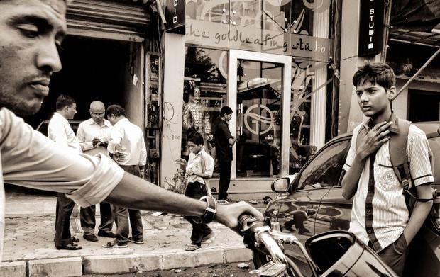 Street scene in Mumbai  India.