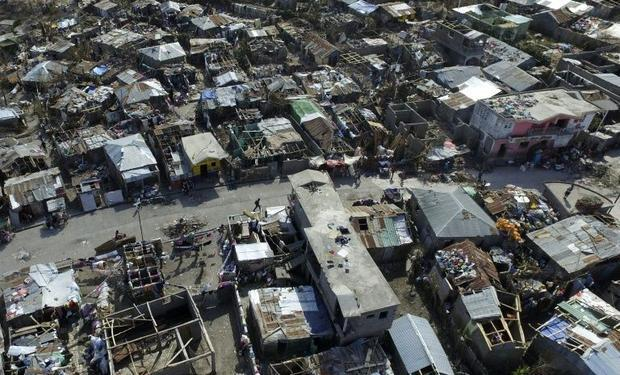Haitians with the group Potentiel 3.0 traveled to Jeremie with a flotilla of four drones to document...