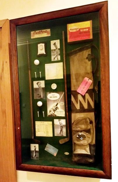 The history of golf captured in a cabinet in Oxford.