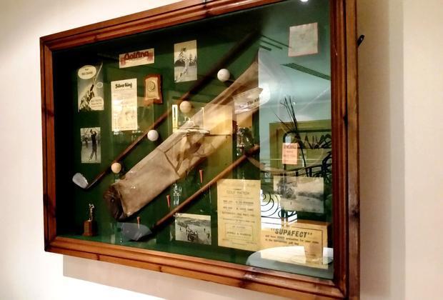 Golfing treasures of yesteryear on display.