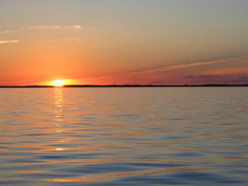 Sunset from a Sailboat on Winnipeg Lake
