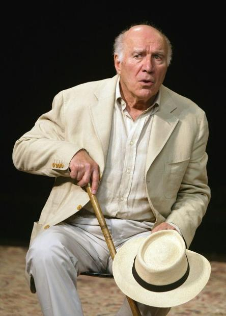 Michel Piccoli performs in Peter Brook's staging of