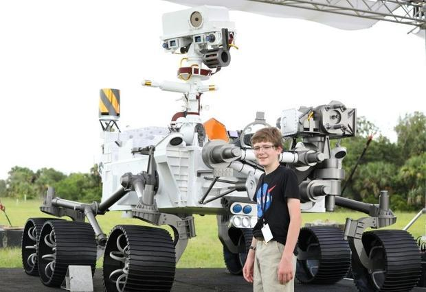 Thirteen-year-old Alex Mather  who won a national competition to name NASA's latest rover Persv...