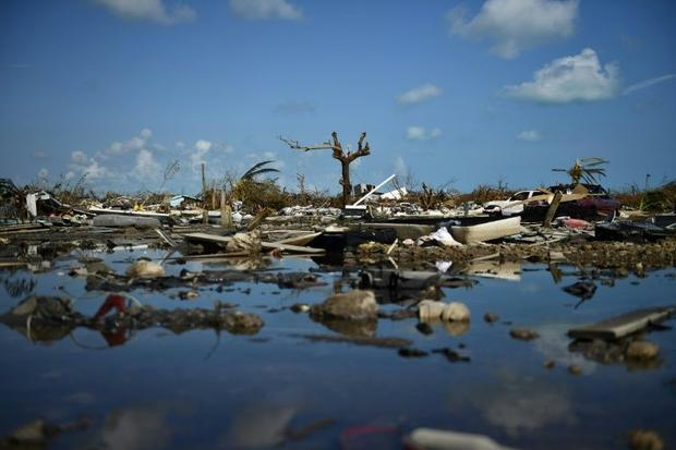 Belongings litter the ground amid the devastated remains of  the shantytown known as The Mudd in Mar...