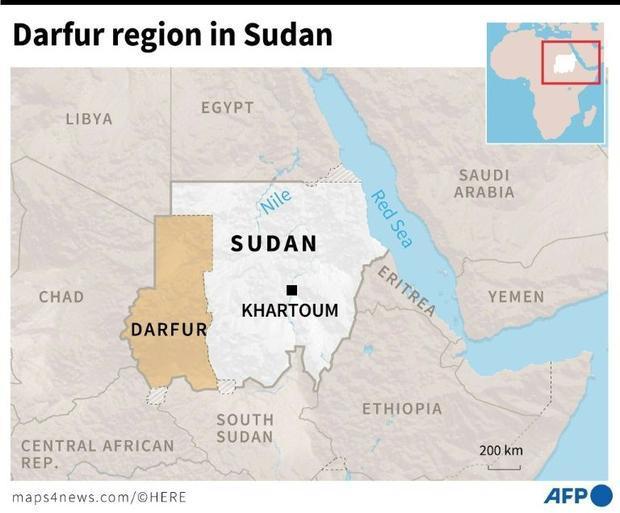 The Darfur region in Sudan