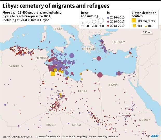 Libya: cemetery of migrants and refugees.