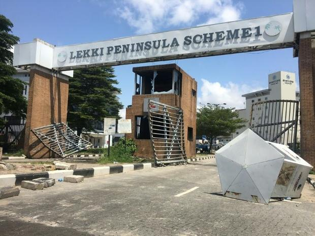 The shooting took place at the Lekki toll gate