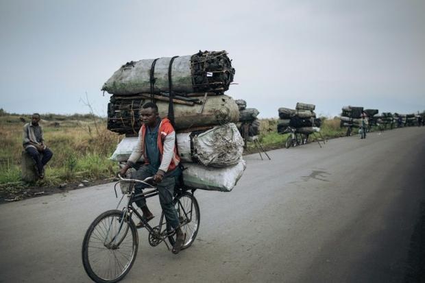 Many people in impoverished DR Congo rely on charcoal as their main fuel  which comes as a steep pri...