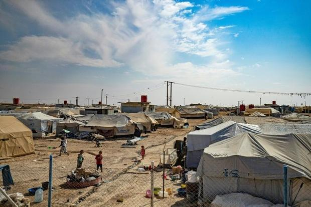 Most families of IS fighters are held in the dusty Al-Hol encampment  a tent city home to more than ...