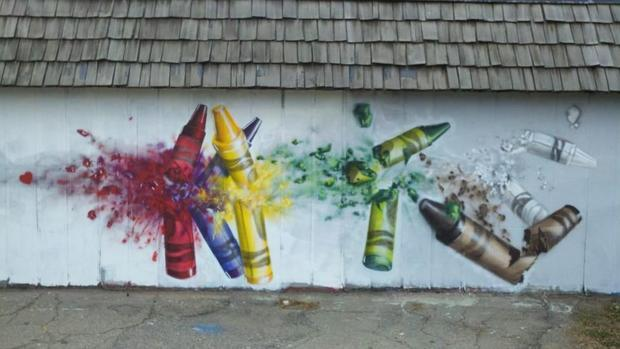 A friend of an imgur member created this Sandy Hook tribute mural.