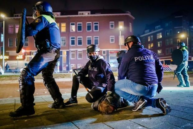 More than 400 people have been detained in the rioting