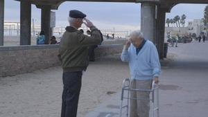 Holocaust survivor reunited with rescuer.