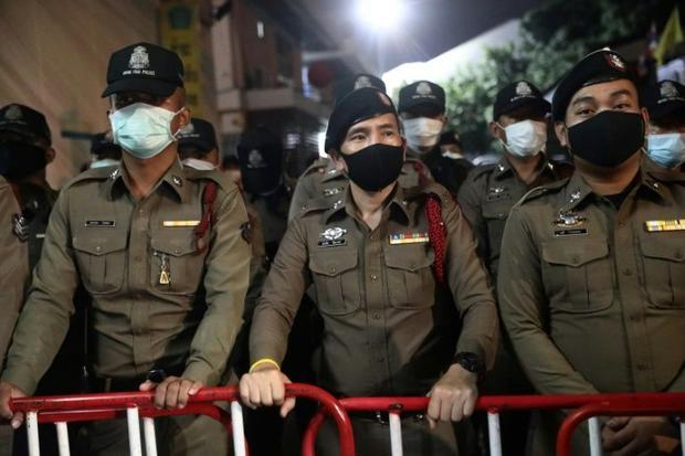 Police largely kept a low profile as protests continued in defiance of a ban on gatherings of more t...