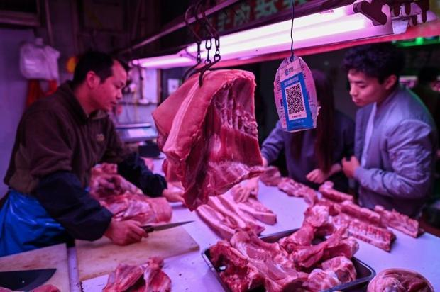 All kinds of transactions  from paying bills to buying meat and produce  are conducting by scanning ...