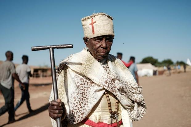 Ummuhay Latabran Qahsay  an 85-year-old Ethiopian who fled the Tigray conflict