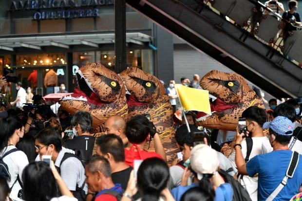 The dinosaurs represented the older generation of Thai politicians  activists said