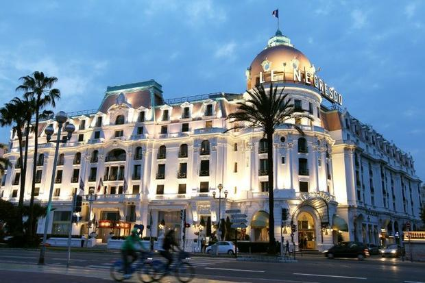 The Negresco hotel has dominated the palm-lined Promenade des Anglais for a century