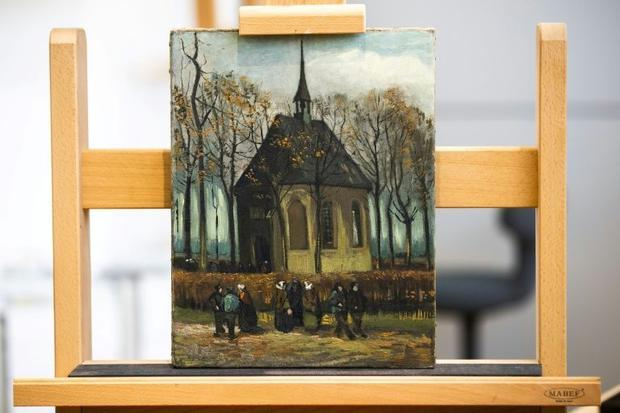 'Congregation Leaving the Reformed Church in Nuenen' (1885)  the other Vincent van Gogh pa...