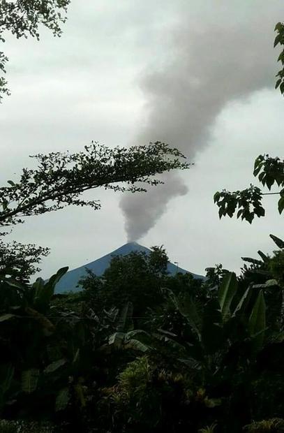Australia's Bureau of Meteorology said the ash reached more than 13 kilometres (44 000 feet) in...