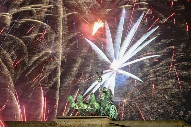 People spent around 113 million euros ($127 million) this year in Germany for New Year's firewo...