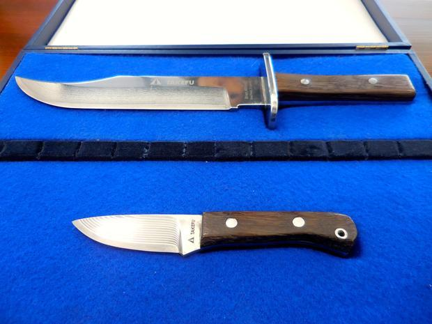 British bladesmith Richard Airey used VG-10 steel in these knives he made to commemorate Takefu Spec...