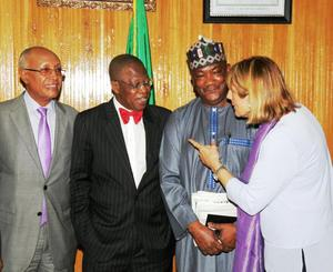Nigerian Minister of Information and Culture  Alhaji Lai Mohammed  tasks VOA Hausa Service on balanc...