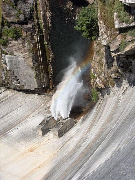Alto Lindoso hydro-power dam in Portugal  part of the country s renewable energy mix.